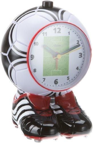 Atlanta 1181 - Reloj despertador (cuarzo, analógico), diseño de balón de fútbol,...
