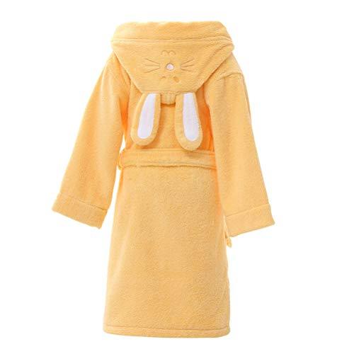 Childern Hood'n Baumwolle Handtuch Robe Bademantel Thema Party Kostüm Robe (Farbe : Gelb, größe : M) (N Themen Kostüm Party)