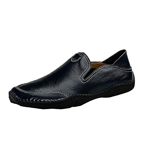 ODRD Männer Schuhe Herren Shoes Moderne Klassische Schnürschuhe Atmungsaktiv Leder Gefüttert Perforiert Flache Schuhe Worker Laufschuhe Hallenschuhe Sportschuhe Wanderschuhe Sports (Halloween-maske Blaue 2019)