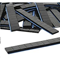 10 je 12/5g Stück Auswuchtgewichte Schwarz 0,6kg Klebegewichte Stahlgewichte Kleberiegel Abrisskante Verzinkt Riegel FE Eisen Runde Kante