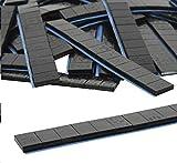 10 pezzi da 12/5 g di pesi, nero, 6 kg di peso adesivo, pesi in acciaio, barretta in ferro zincato, bordo rotondo