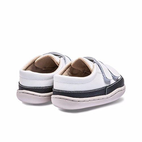 Little Blue Lamb , {Chaussures premiers pas pour bébé (garçon) blanc blanc/noir 12-18 mois blanc/noir