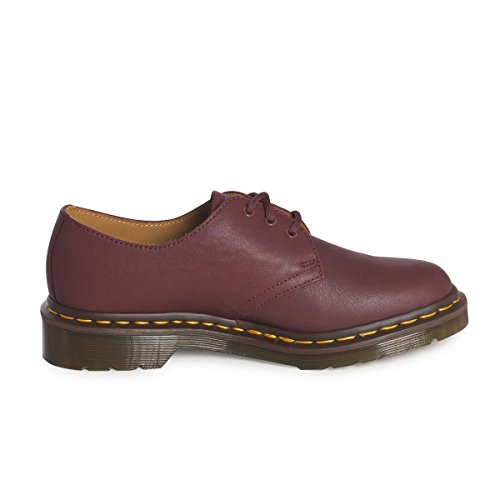 Dr.Martens Womens 1461 3 Eyelet Virginia Leather Shoes Bordeaux