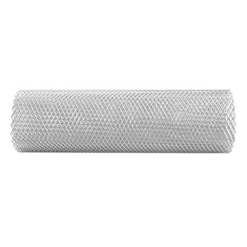 Preisvergleich Produktbild Shiwaki Aluminium Renngitter Windhager Wühlmausgitter Volierendraht Wühlmausschutz Maulwurfgitter,  100x33cm - Silber