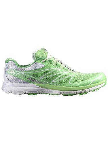Salomon Sense Pro Women's Chaussure Course Trial Verbena Green White Silver metallic