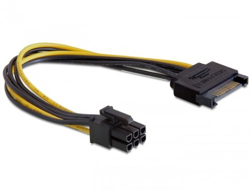 delock-power-sata-cable-sata-15-pin-6-pin-021-metros-negro-y-amarillo