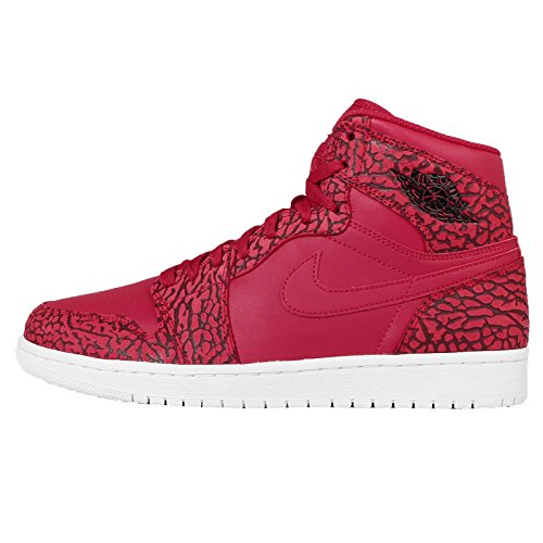 Nike Herren Air Jordan 1 Retro High Basketballschuhe Rot (Gym Team Red-White), 44 EU