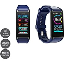 LCARE Mambo Fitness Band Pedometer, HR and BP, Sleep Tracker, Smart Activity Tracker Call Alert for Android and iPhone