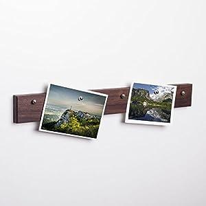 Fotoleiste mit Magneten aus Massivholz | verschiedene Längen und Holzarten zur Auswahl