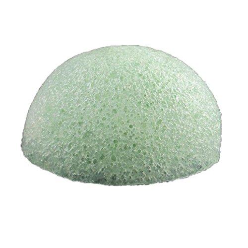 Konjac Facial Sponge, SHOBDW Konjac éponge visage pour l'exfoliation naturelle et le nettoyage profond des pores vert