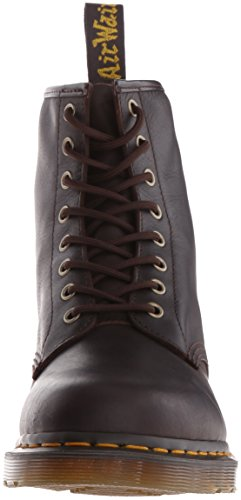 Dr. Martens Pascal 8 fori Spectra Patent Cherry Red Patent Leather Chocolate