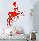 wandaufkleber sterne leuchtend Vinyl Wall Decal schöne Mädchen Dame Kleid Frisur Mode Aufkleber