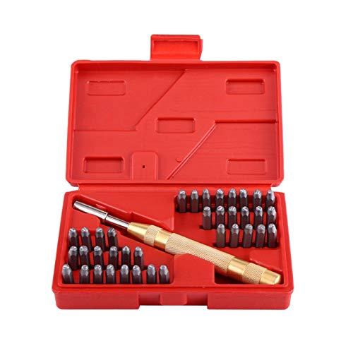 SNOWINSPRING 38 Teil/Satz Automatische Letter Number Stamping Metall Stempel Schlagen Werkzeug Kit Für Kunststoff Leder Mark