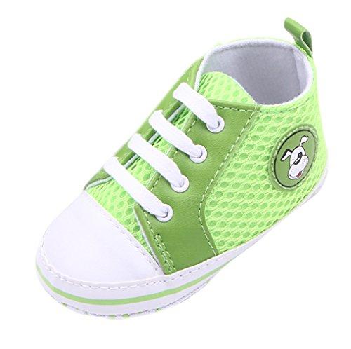 EOZY Baby Mädchen Lauflernschuhe Jungen Sneaker Hundemuster Segeltuchschuhe Grün