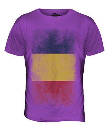 CandyMix Tchad Verblichen Flagge Herren T Shirt Violett