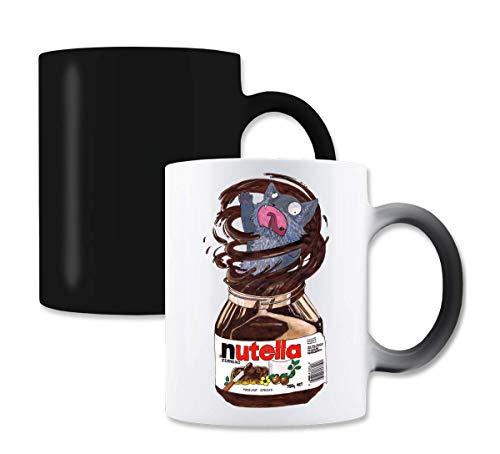 Nutella Crazy Cat Magische Farbe die Tee-Kaffeetasse ändert