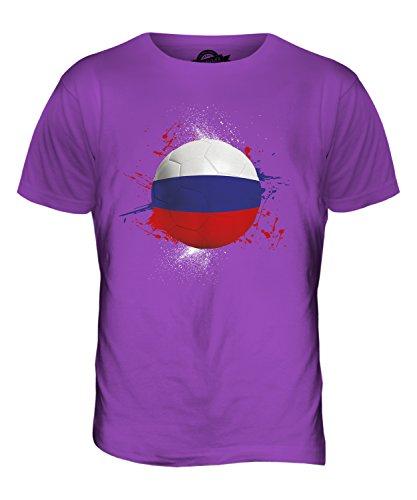 CandyMix Russland Fußball Herren T Shirt Violett