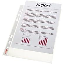 Esselte 47183 Standard - Funda para documentos (A5, multiperforada, resistente, polipropileno, apertura superior, 25 unidades), transparente
