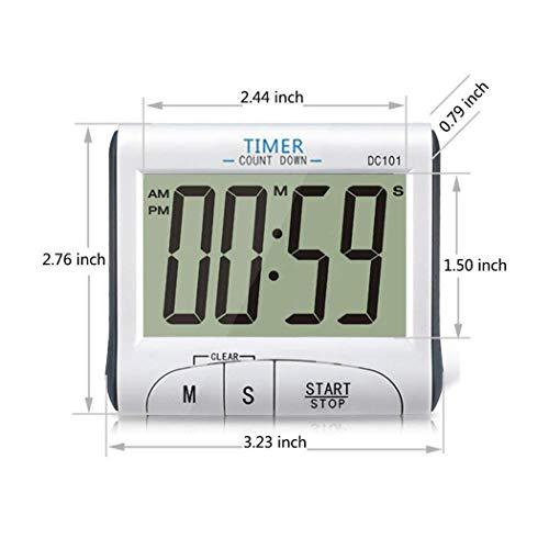 Kisshes LCD-Digitalanzeige-elektronische Timer-Countdown-Uhr mit Magnet Eieruhren