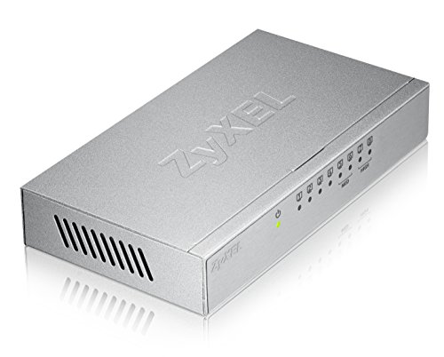 ZyXEL GS-108B V3 / 8-Port Desktop Gigabit Ethernet Switch im Metallgehäuse / Wandmontage (8x 10/100/1000 MBit/s)