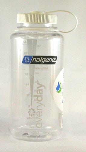 Nalgene Wide Mouth Bottle-32Oz, klar W/White Cap von Nalgene - Mouth Nalgene Oz Wide 32
