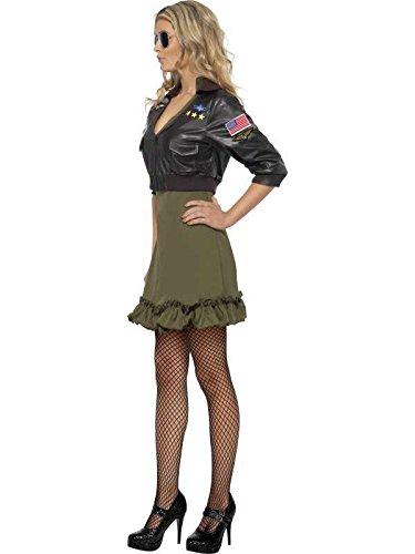 sexy Stretchkleid top gun mit Jacke, Größe s (Top Gun Kostüm Jacke)