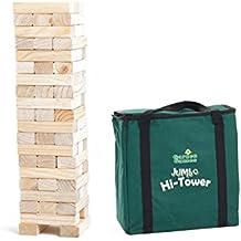 Garden Games Jumbo Hi-Tower en una bolsa De - Builds de 0,6 m - 1,5 m (máximo en jugar. Pino Macizo Madera De la caída Torre De Juego