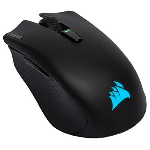 Corsair Harpoon RGB Kabellose Wiederaufladbare Optisch Gaming-Maus (mit SLIPSTREAM Technologie, 10.000DPI Optisch Sensor, RGB LED Hintergrundbeleuchtung) schwarz