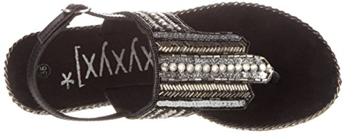 Xyxyx, Tongs Femme Schwarz (Black)