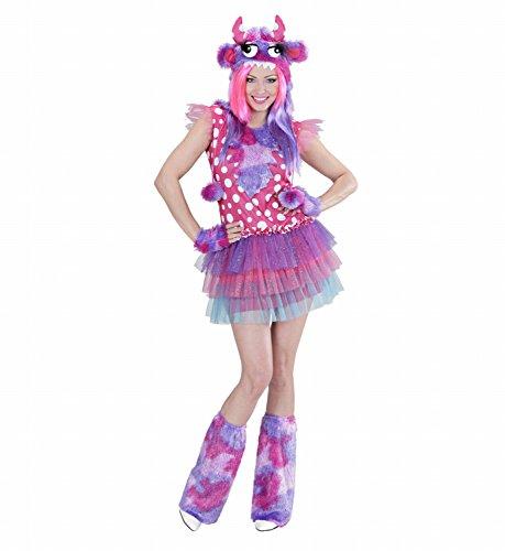Widmann 01711 - Erwachsenenkostüm Monster Girl, Kleid, Mütze, -
