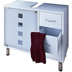 VCM Lodala Set de baño, Madera, Blanco, 57,5x67x29.5 cm