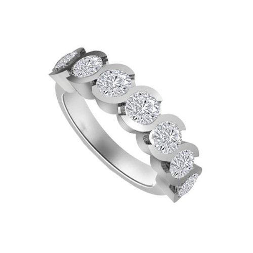 0.91ct G/SI1 Diamante Half Eternity Anello da