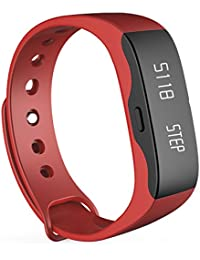 Smartwatch Demiawaking Reloj Inteligente Hombres Mujeres Smart Wrist Band Moda Reloj Deportivo L28t Reloj Outdoor Fitness (Rojo)