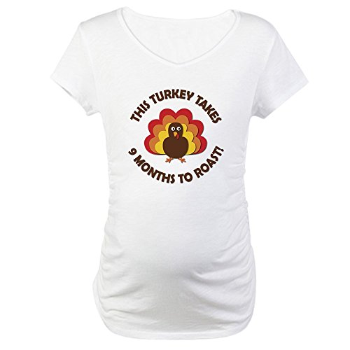 cafepress-this-turkey-takes-9-months-to-roast-maternity-t-s-cotton-maternity-t-shirt-cute-funny-preg