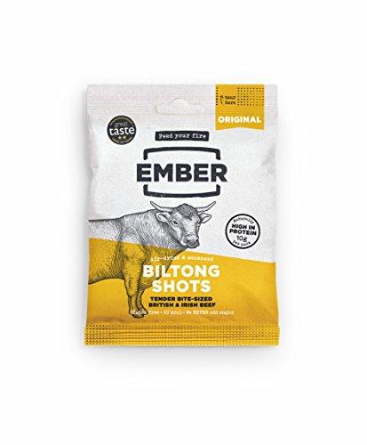Best Ember Biltong - Beef Jerky - Traditionelles Gras gefüttert Steak. Proteinreicher Biltong Snack - kein Zucker gesunder Snack, 10 x 30g Beutel - NEUER STARTABLAUF - NUR DIESE WOCHE! (Original) (Original Mini-Packs) (30 Traditionelle Post)