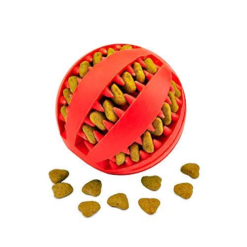 Nozdom Giocattolo Palla per Cane, Gioco Palla Rimbalzante Cane, Giocattolo Resistente Palla per Cani, Palla per Pulito dei Denti di Cane Pulizia Denti Cane - 7cm di Diametro, 1pack Rosso