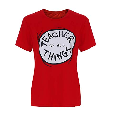 Amphia - Lässiges T-Shirt-Oberteil mit Rundhalsausschnitt - Herren Damen Kurzarm Brief Oansatz Bluse Shirt Pullover Tops