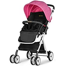 Besrey New Baby Stroller Lightweight Fold Pushchair(Pink)