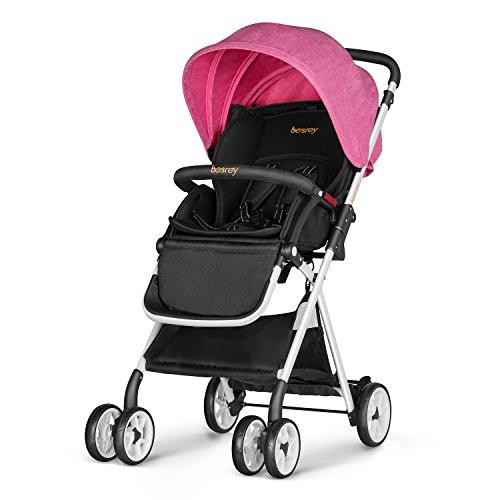 *Besrey Buggy Kinderwagen Pushchair stroller Sportwagen Babywagen für Kinder 6 Monate – 3 Jahren alt – mit Sonnenverdeck – 3 Färben – pink – NEU Version*