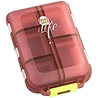 Tragbare Medizin Box Travel Portable Kit Dispenser Box (braun transparent) preisvergleich bei billige-tabletten.eu