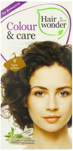 Hennaplus Hairwonder Colour und Care 5 light brown, 100 ml -