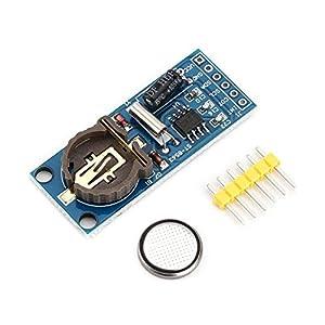 Yaoaoden Mini PCF8563T Stabiler niedriger Energieverbrauch Tragbare Echtzeituhr RTC-Platine mit 40mAh-Batterie für die Elektronik