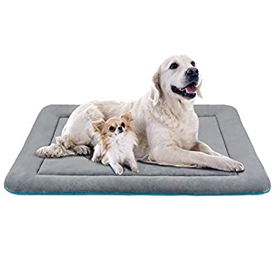JoicyCo Dog Bed Crate Pad Mat 36/42/47 in Anti-Slip 100% Washable Dog Mattress Pets Kennel Pads by JoicyCo