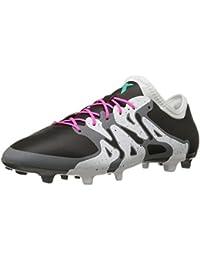 buy online 9101c c1ea0 Adidas Performance X 15.2 Firm   artificielle Terrain de soccer à crampons,  noir   choc
