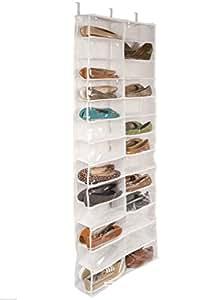 FLORATA 26 Pair Over Door Hanging Shoe Rack Shelf Storage Stand Organiser Pocket Holder