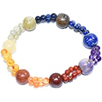 Bracelet Seven Chakra 10 mm + 6 mm Double String Handmade +1 Amethyst Pointer pendant Healing Power Crystal Beads preisvergleich bei billige-tabletten.eu