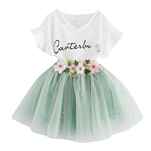 Hirolan Mädchen Kleider Baby Langes Kleid Sommerkleider Mädchen Kleinkind Outfit Kleider Kinder...
