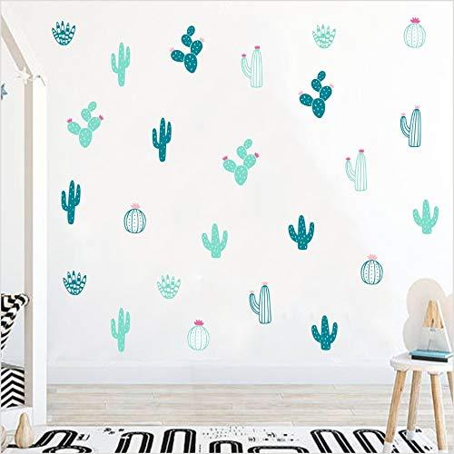 Cactus stickers murali woodland tribal cactus wall sticker per la camera dei bambini nursery wall decor cactus succulente wall tattoo home decor