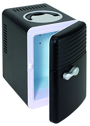 Kühlschrank Mini schwarz 12 Volt und 240 Volt Anschluss Reisekühlschrank ca. 27,5 x 19,4 x 27,7 cm frei von CFC und HCFC Tabletten Kühlschrank 5 Liter Campingkühlschrank