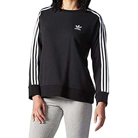 adidas Sweatshirt 3 rayures pour femmes 40 noir